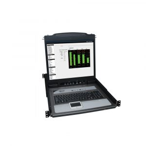NetDirector 8-Port 1U Rack-Mount Console KVM Switch with 19-in. LCD + 8 PS2/USB Combo Cables